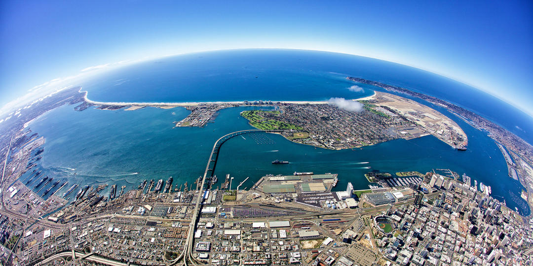 San Diego Bay Fisheye
