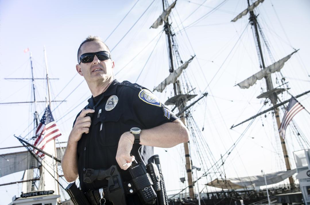 Harbor police man