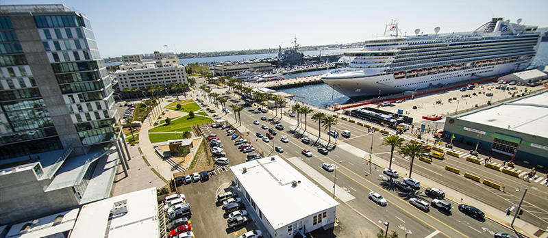 San Diego Waterfront Parking Lots