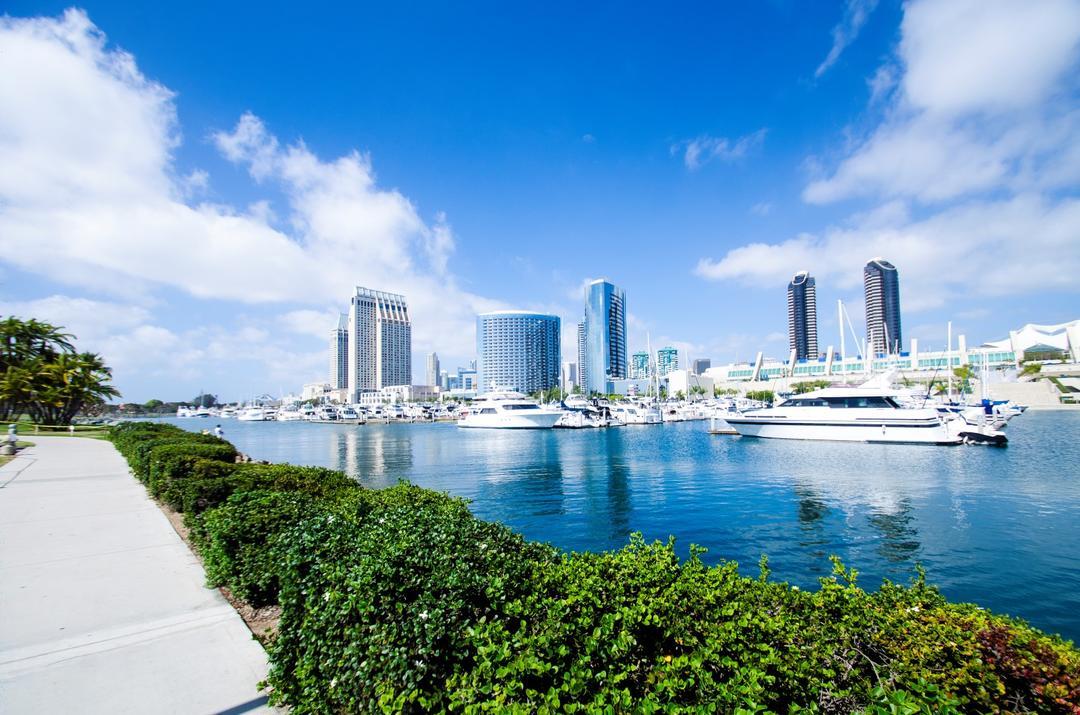 North Embarcadero-Marina looking north at the Port of San Diego
