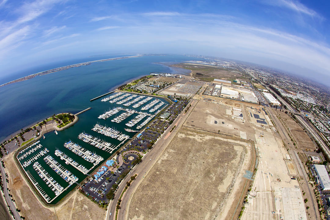 Aerial view of the Port of San Diego Chula Vista Bayfront.