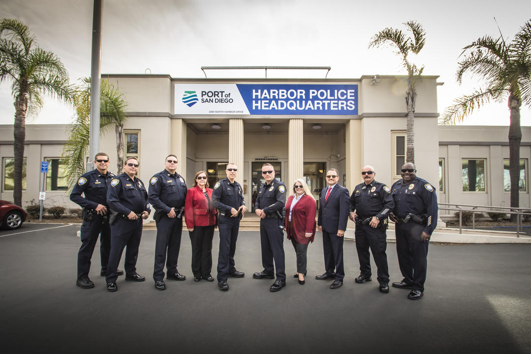 Harbor Police Command team