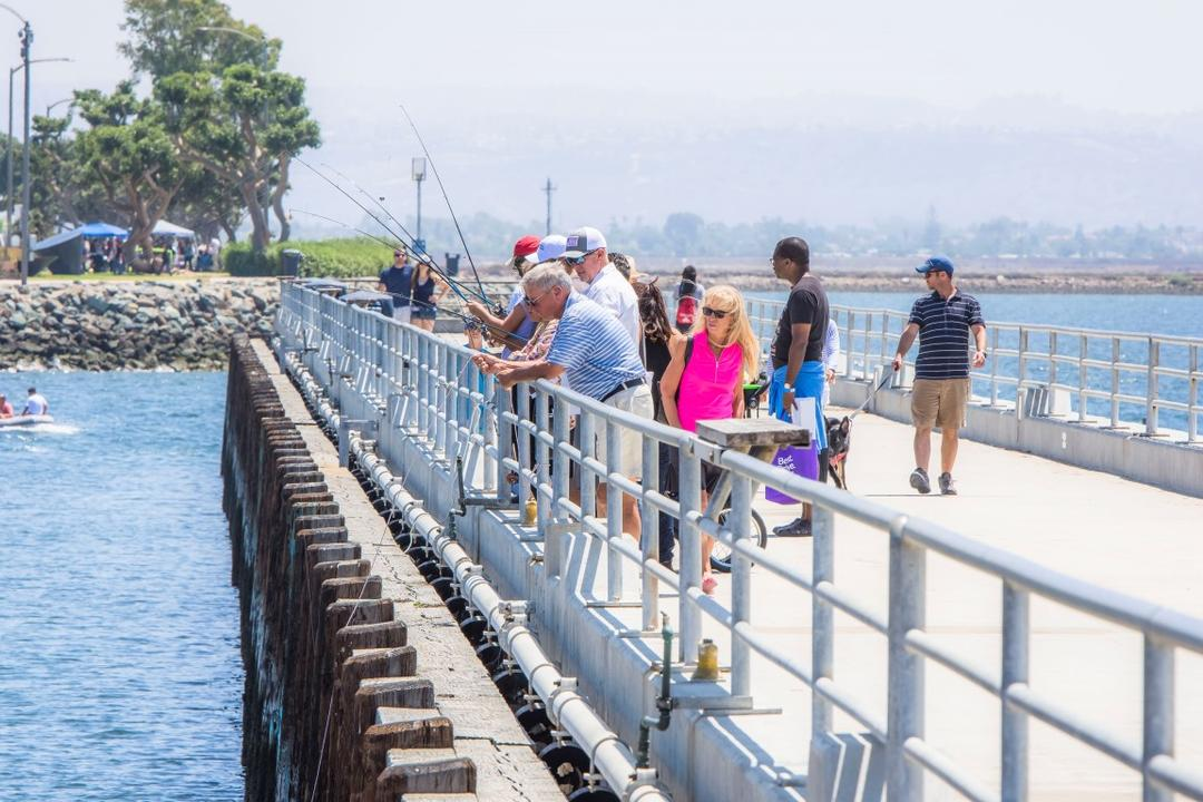 Fishing pier at Chula Vista Bayside Park at the Port of San Diego