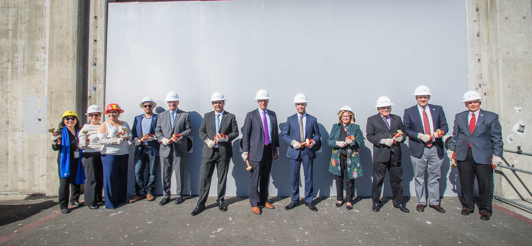 a line-up of VIPs at the Tenth Avenue Marine Terminal groundbreaking - Port of San Diego