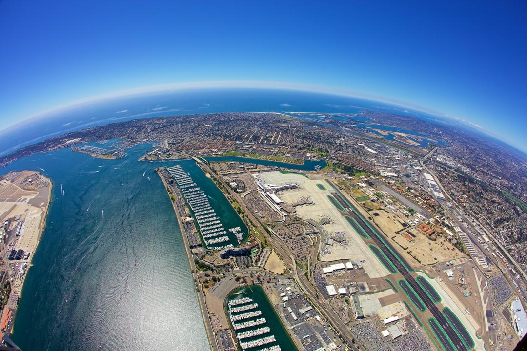 aerial bay image