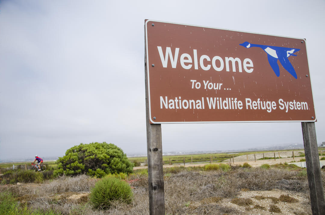 National Wildlife Refuge sign at the Port of San Diego