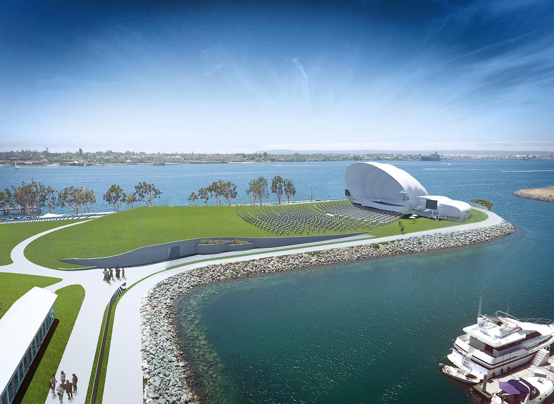 San Diego Symphony Bayside Performance Park Project - Looking West