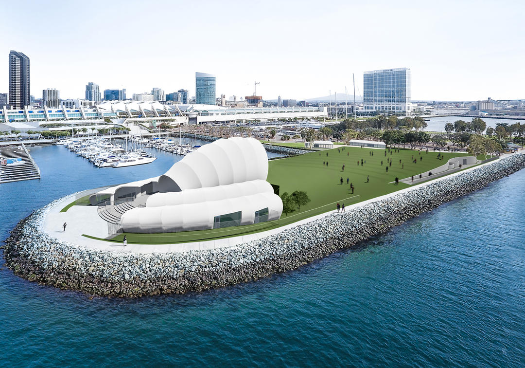 San Diego Symphony Bayside Performance Park - Aerial