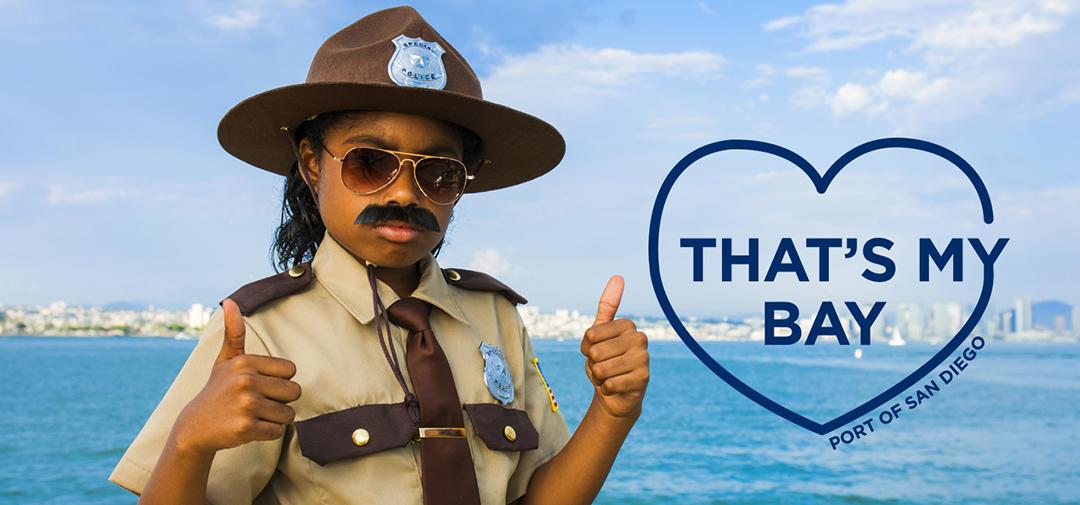 "Trash Trooper Trish says ""that's my bay!"""