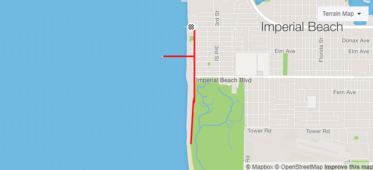 Imperial Beach Running Map