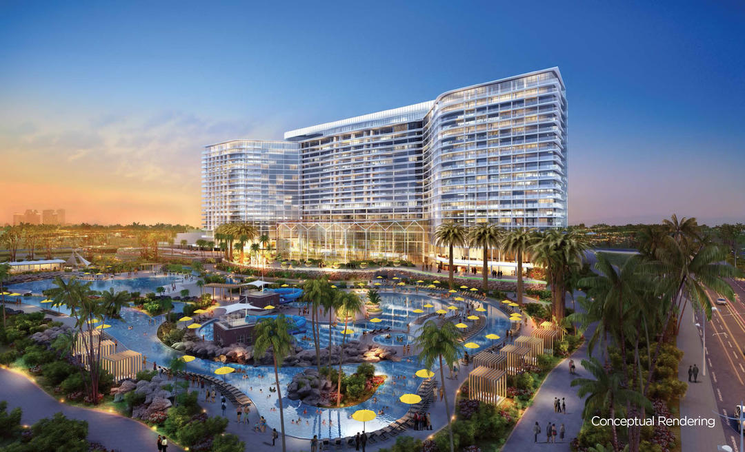Rendering of future Gaylord Pacific resort hotel and convention center to be developed by RIDA on the Chula Vista Bayfront in partnership with the Port of San Diego.