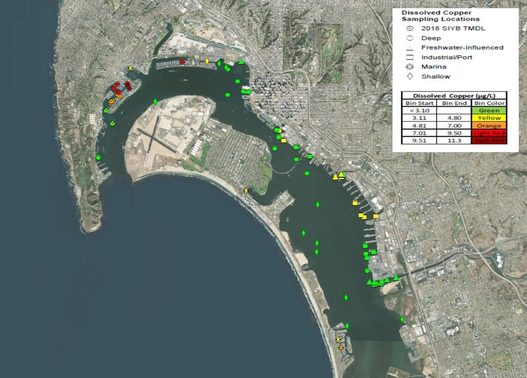 Copper Levels in San Diego Bay