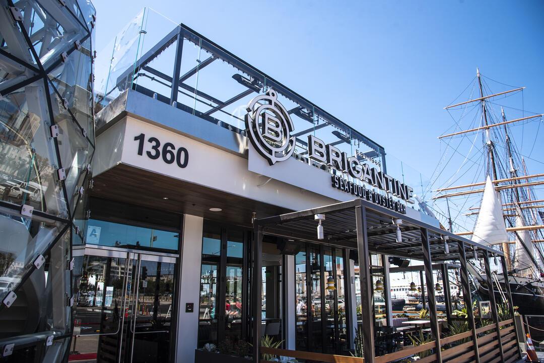 Brigantine Seafood & Oyster Bar at Portside Pier on San Diego Bay's North Embarcadero.