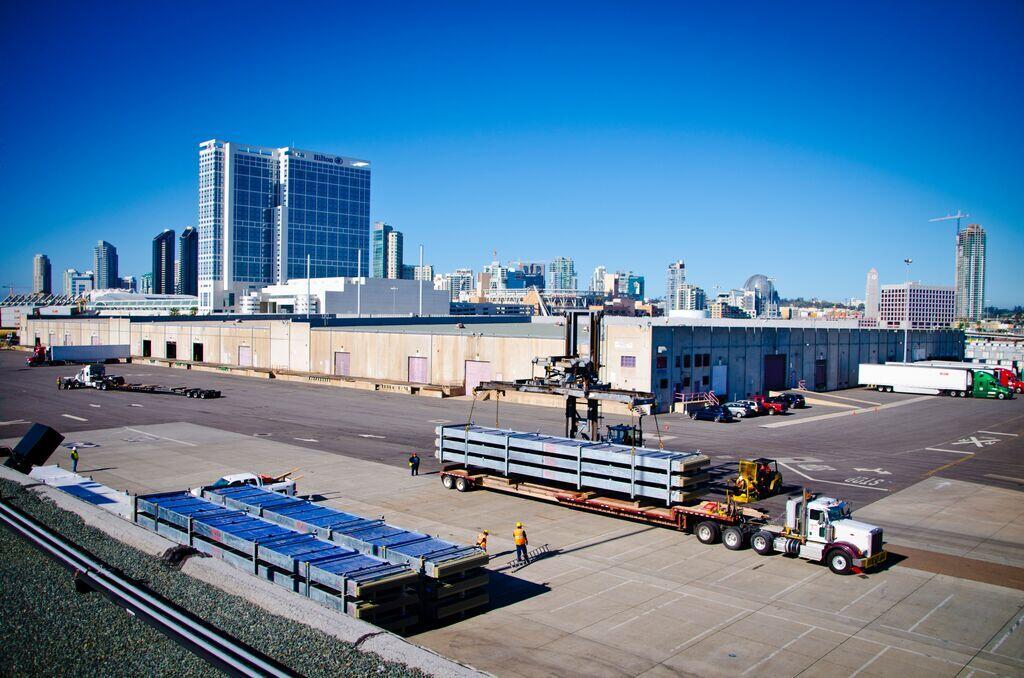 Aerial photo of Port of San Diego Tenth Avenue Marine Terminal