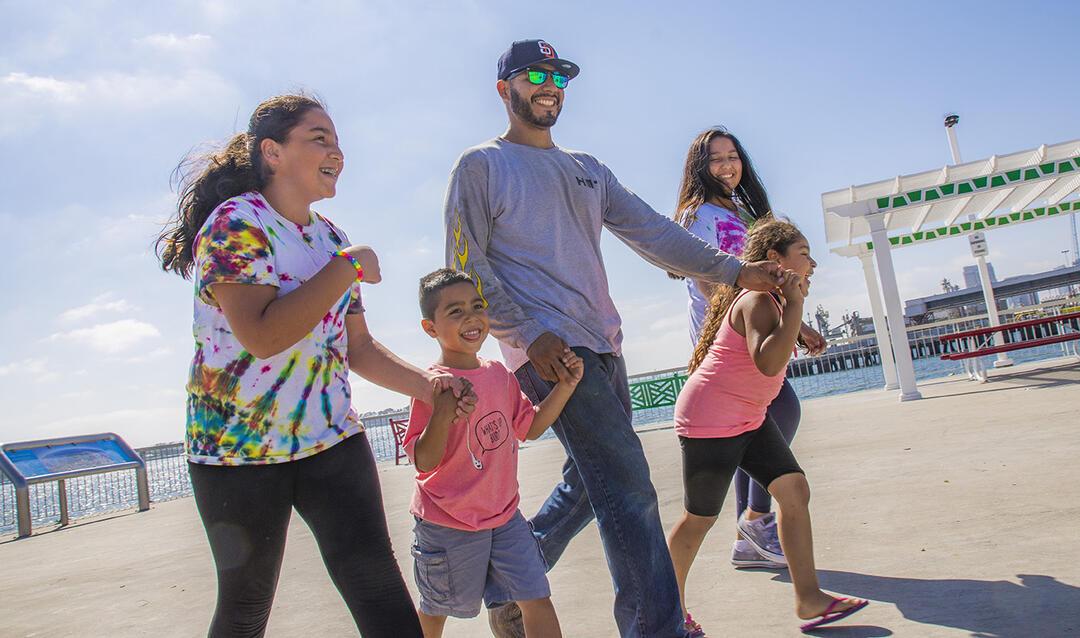 Cesar Chavez Park with kids