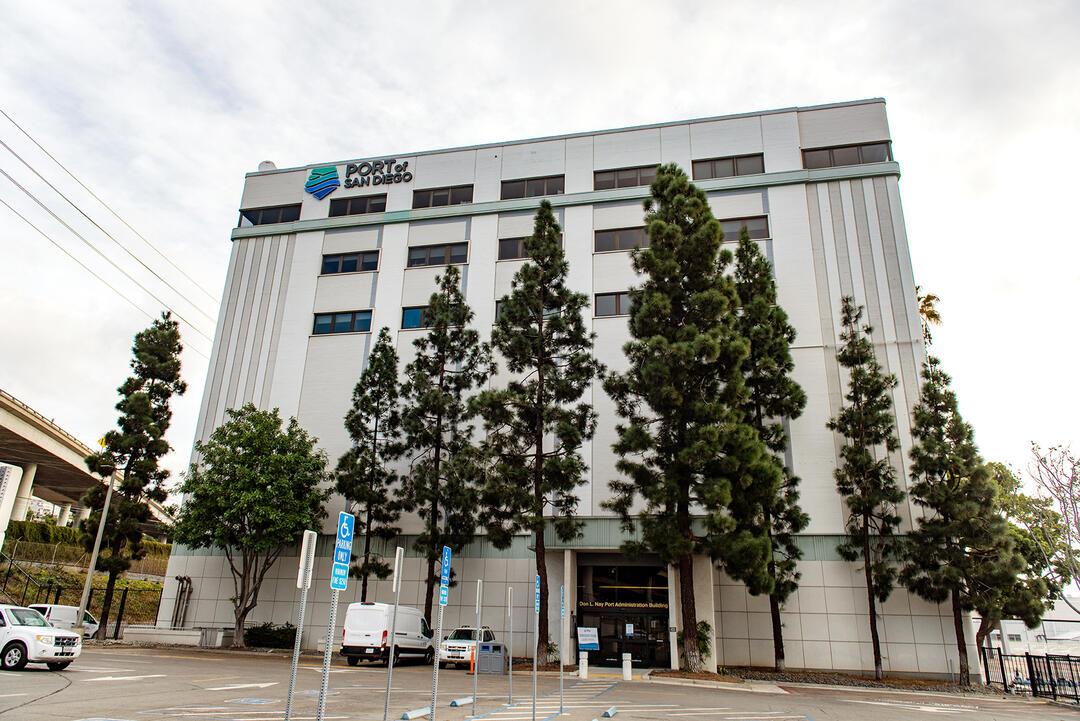 Port of San Diego Administration Building front entrance