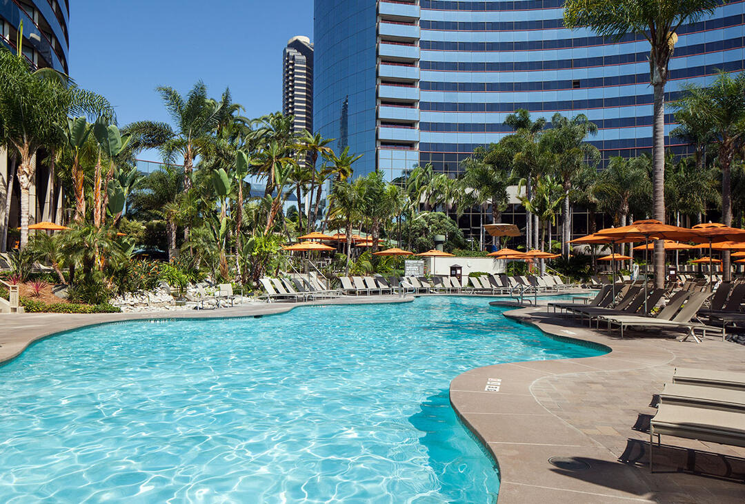 The pool at the Marriott Marquis San Diego