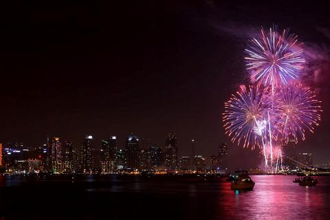 4th of July Fireworks over San Diego Bay at the Port of San Diego's Big Bay Boom