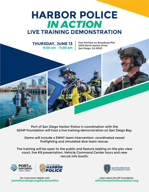 Port of San Diego Harbor Police Live Training Demonstration Flyer