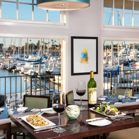 Panorama Bar and Grill on Harbor Island  at the Port of San Diego