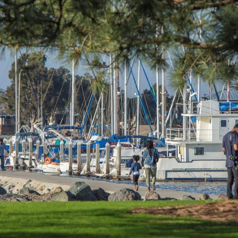 Boat launch at Chula Vista Bayfront Park at the Port of San Diego