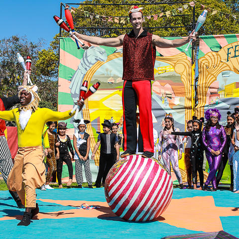 Fern Street Circus at Pepper Park on the National City bayfront