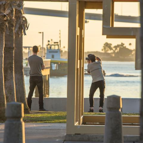 Recreational pier photography at Cesar Chavez Park at the Port of San Diego