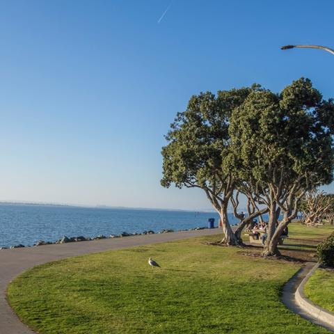 Shoreline path at Chula Vista Bayfront Park at the Port of San Diego