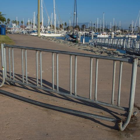 Bike parking rack at Chula Vista Bayfront Park at the Port of San Diego
