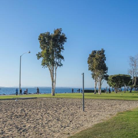 Beach volleyball court at Chula Vista Bayside Park at the Port of San Diego