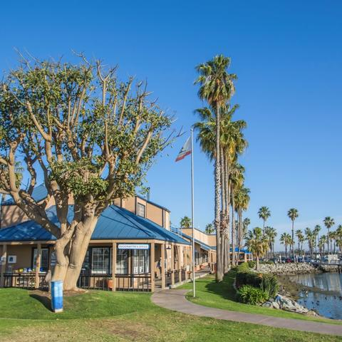 Dockmaster's office at Chula Vista Bayside Park at the Port of San Diego