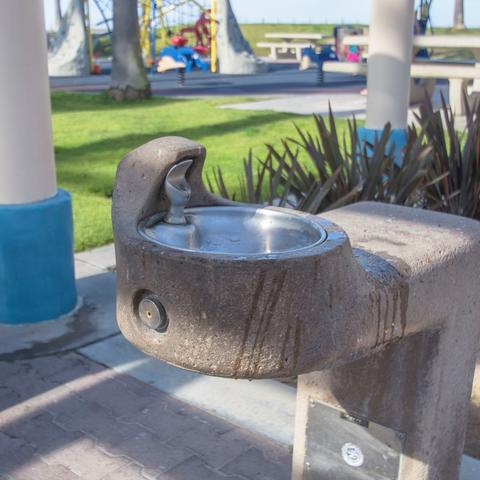 Drinking water fountain at Dunes Park at the Port of San Diego