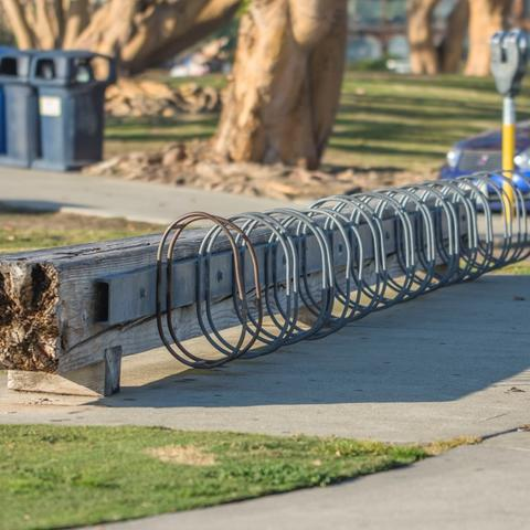 Bike rack at Embarcadero Marina Park North at the Port of San Diego