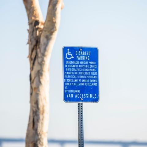 Disabled parking at Embarcadero Marina Park South at the Port of San Diego