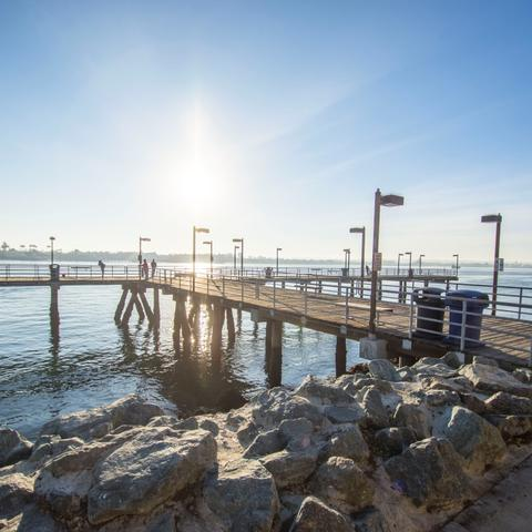 Fishing pier at Embarcadero Marina Park South at the Port of San Diego