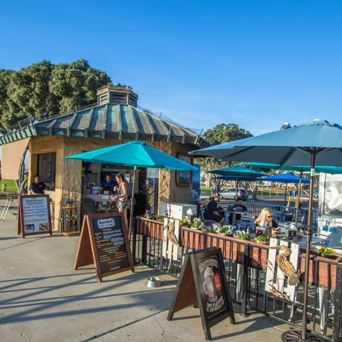 Burgers, Bait & Beer restaurant at Embarcadero Marina Park South at the Port of San Diego