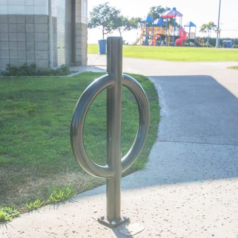 Bike rack at Pepper Park at the Port of San Diego