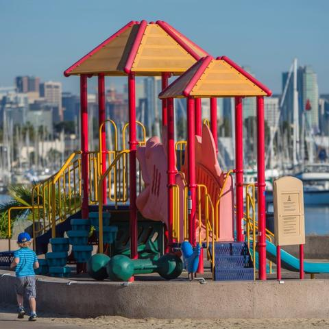 Playground at Spanish Landing Park at the Port of San Diego