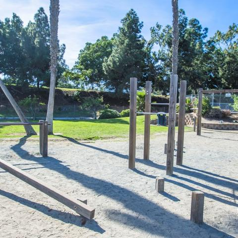 Exercise station on sand at Coronado Tidelands Park at the Port of San Diego