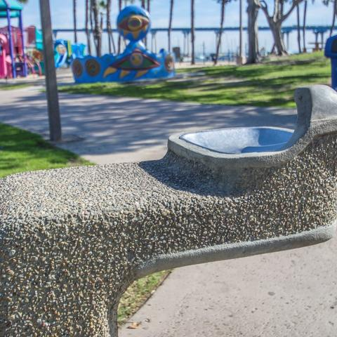 Drinking water fountain at Coronado Tidelands Park at the Port of San Diego