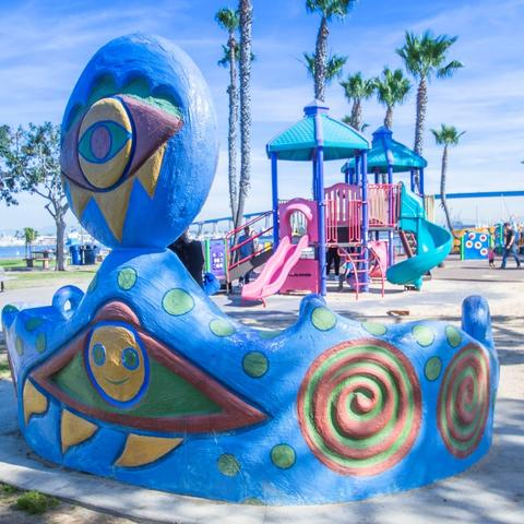 Playground at Coronado Tidelands Park at the Port of San Diego