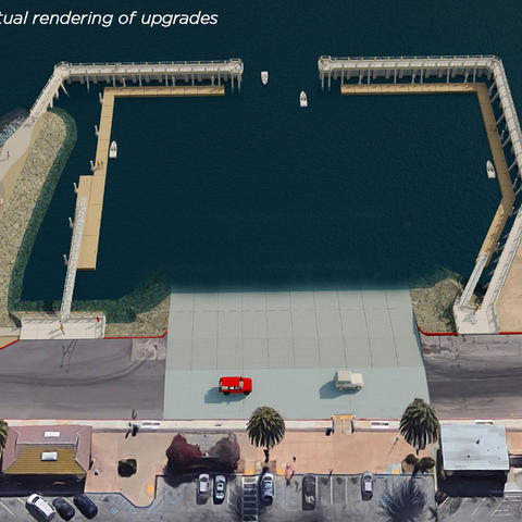 Shelter island Boat Launch rendering of upgrades