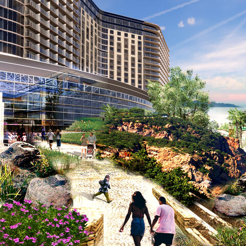 Chula Vista Bayfront Gaylord Pacific Conceptual Rendering View