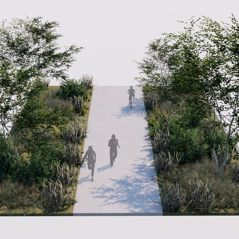 Chula Vista Bayfront Sweetwater Path Conceptual Rendering