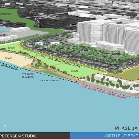 Conceptual rendering depicts Phase 1A of the future Harbor Park for the Chula Vista Bayfront.